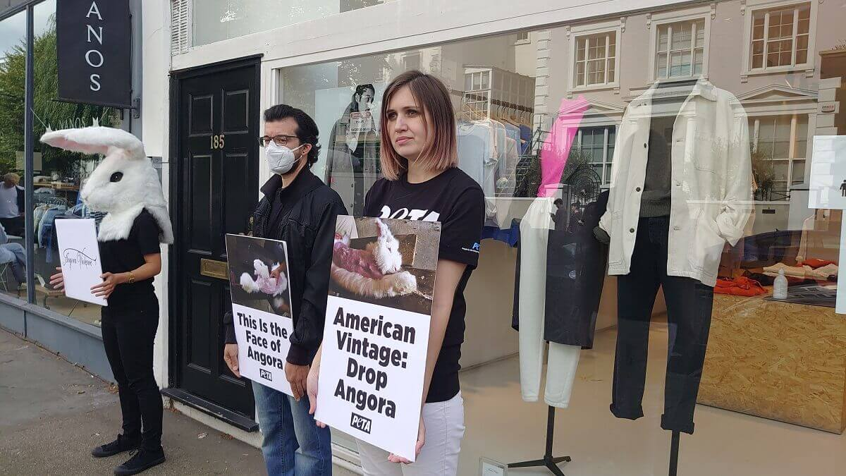 Protesters outside American Vintage