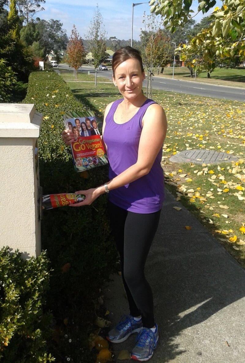 PETA Australia Vegan Starter Kit Distribution Day - Angela Bird