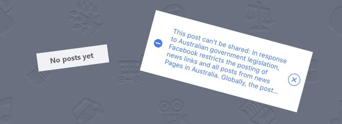 Screenshot of Facebook restrictions