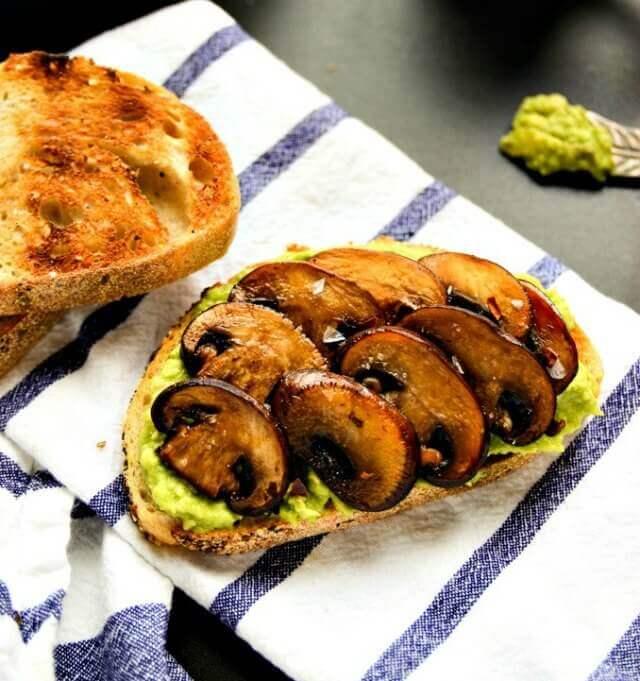 blissful-basil-avocado-mushroom-toast