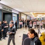 Canada Goose Protest at Vancouver Mall