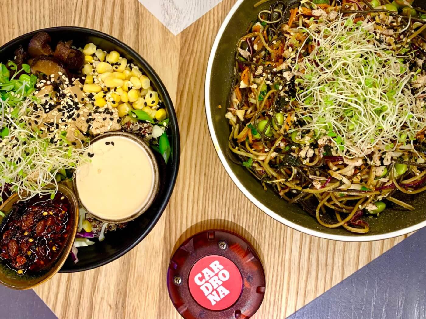Vegan Buddha Bowl and Noodle Salad at Cardrona
