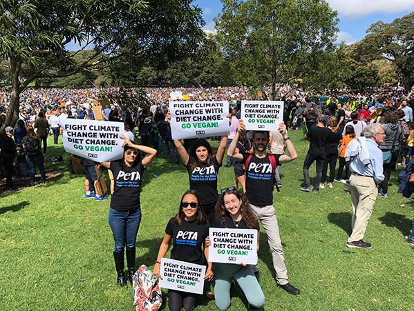 PETA Climate Strikers