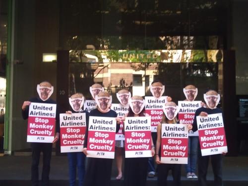 United Airlines protest Australia