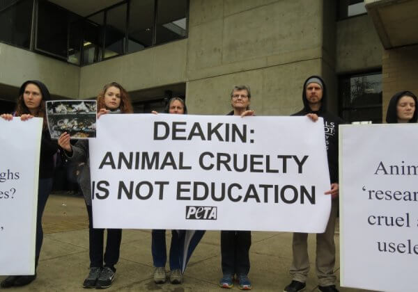 Deakin University Students Speak Up for Animals Used in Labs