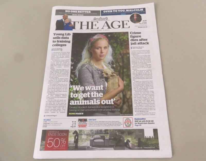 Deakin University The Age - Alexandra Sedgwick