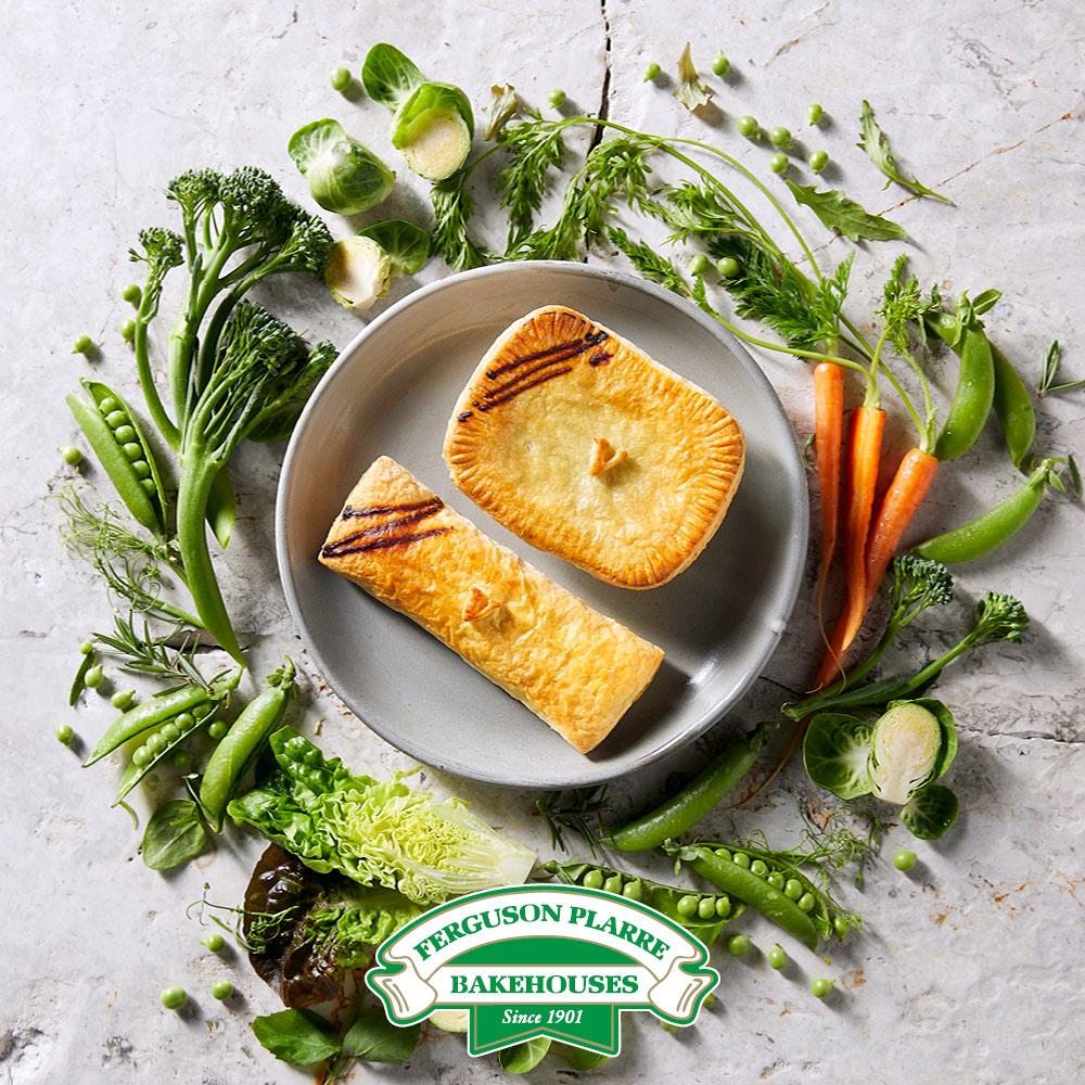 Ferguson Plarre's new vegan pie and sausage roll!