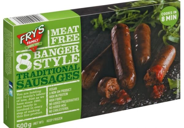 Frys Meat Free Banger Style Traditional Sausages