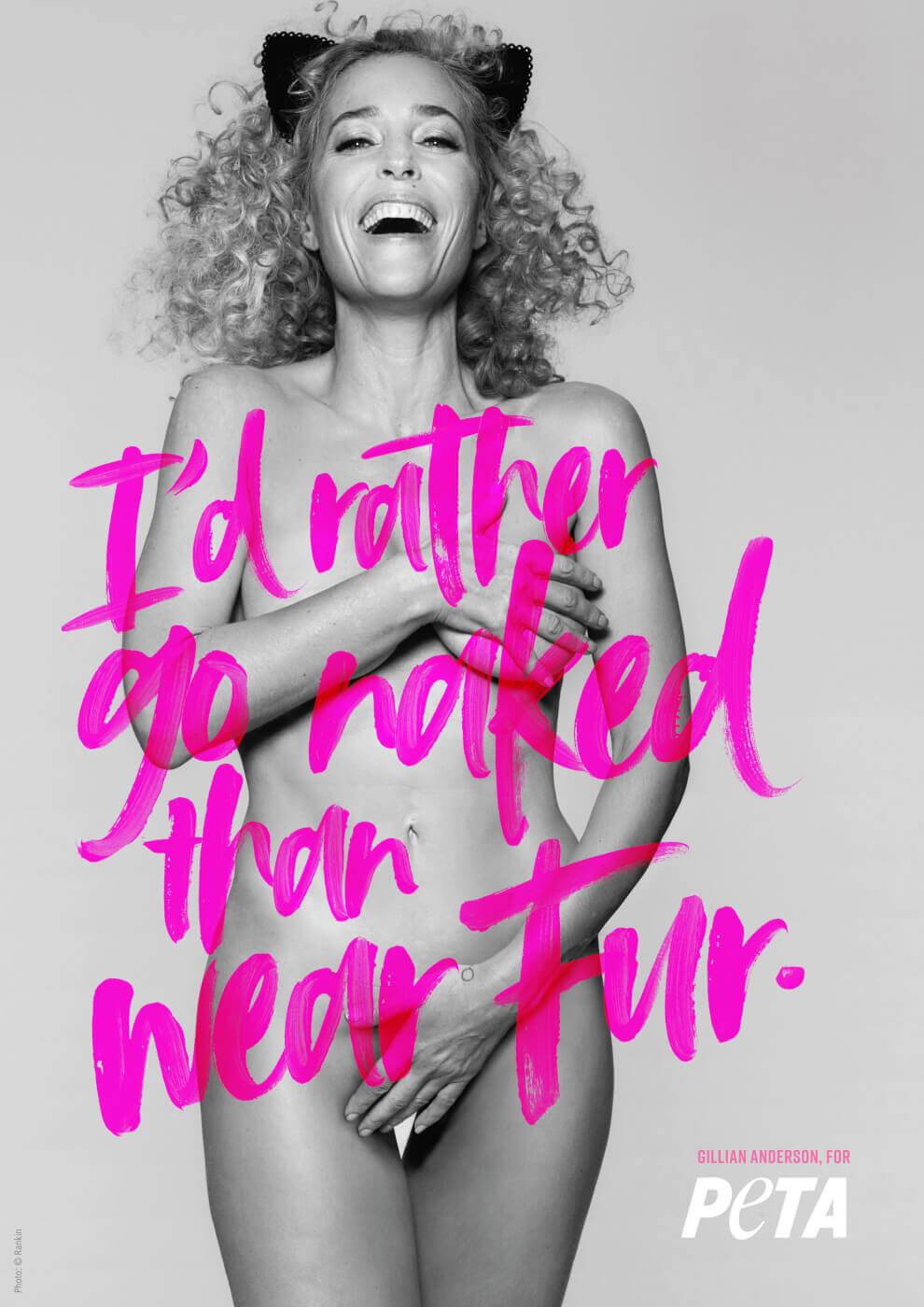 Gillian Anderson's PETA Campaign.