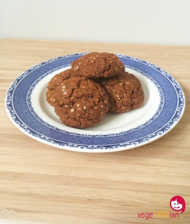 Gluten-Free Vegan Lemon and Quinoa Anzac Biscuits