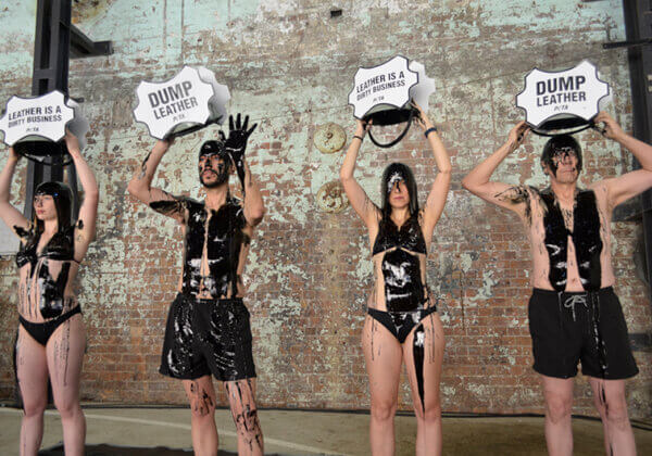 PETA Stages Leather Protest at Sydney Fashion Week