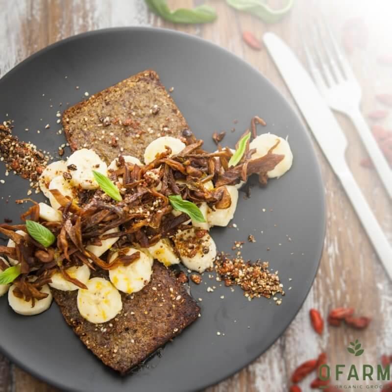 oFarm vegan banana bread