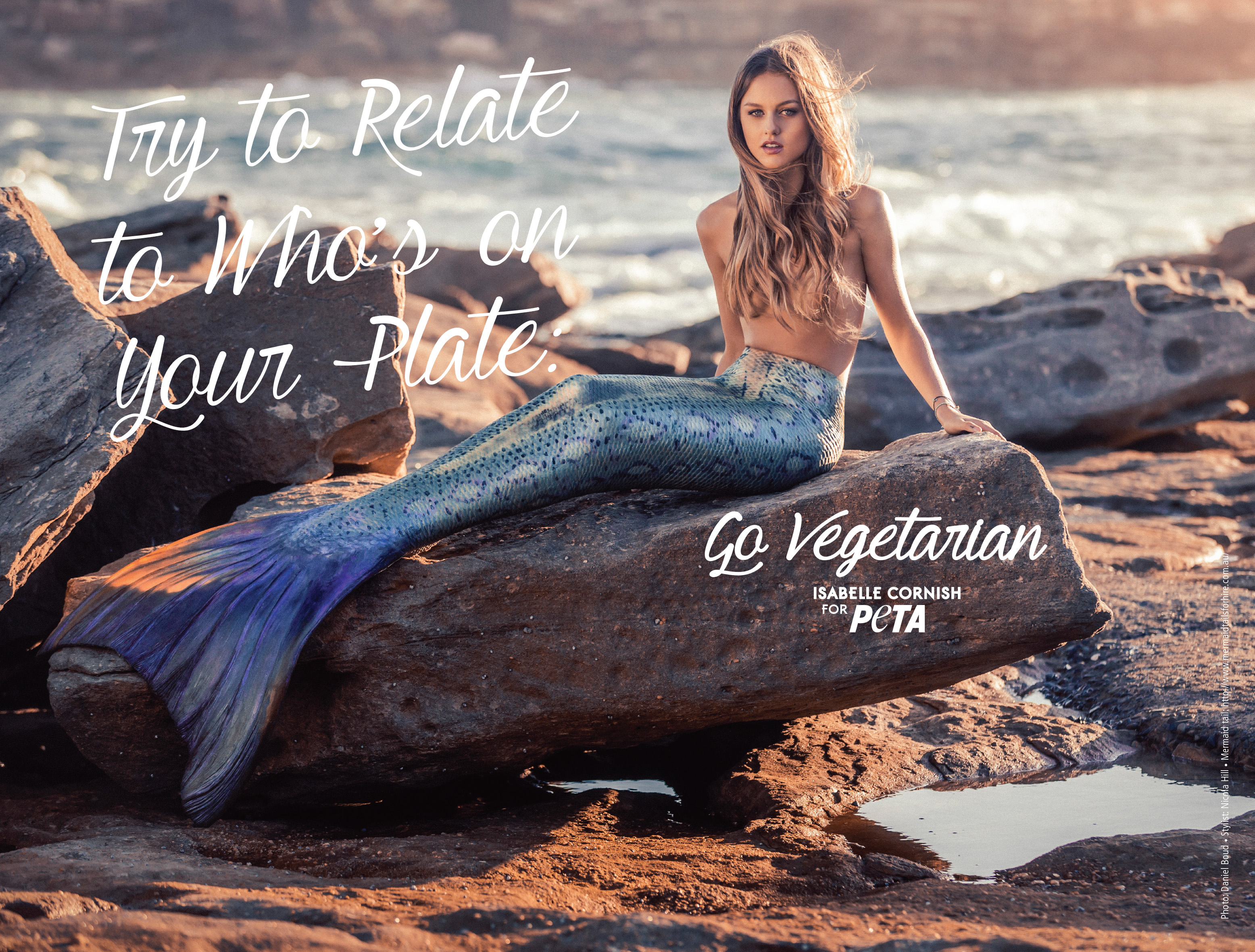 Isabelle Cornish Channels Her Inner Mermaid in New PETA Ad