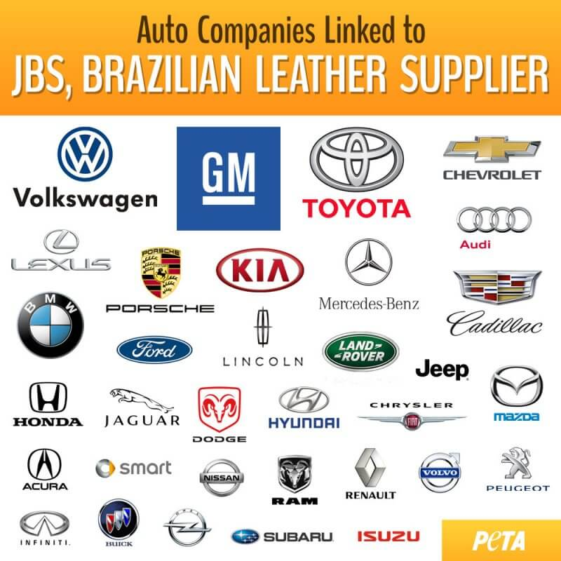Infographic of JBS-linked car companies