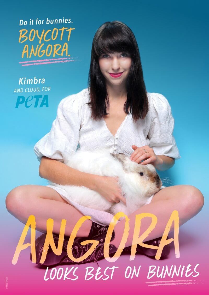 Kimbra Angora Ad PETA