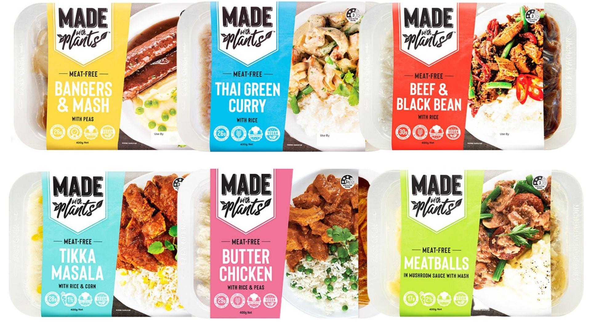 Made with Plants ready made vegan meals.