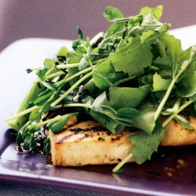 Marinated Soyco Tofu with Rocket Salad