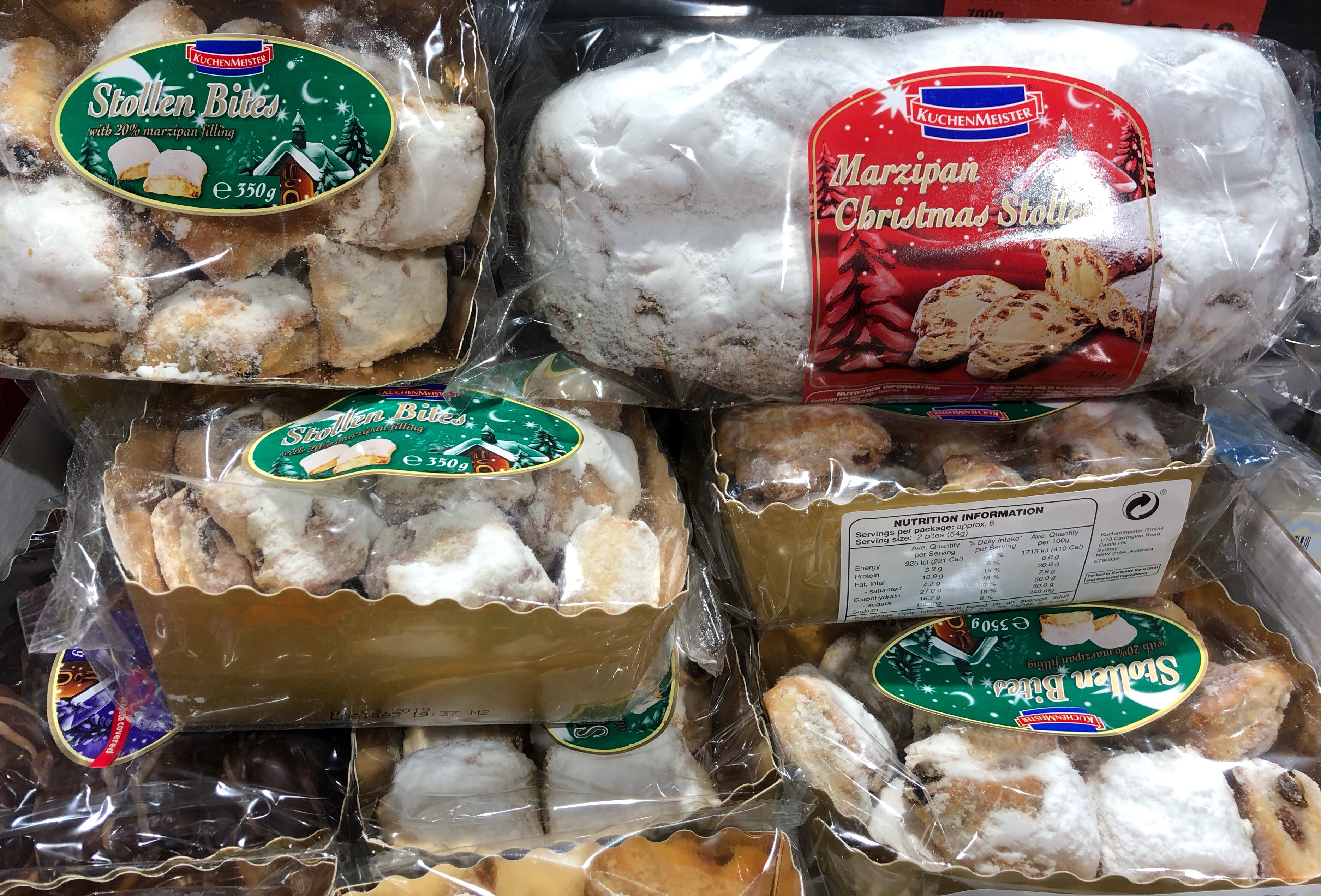 Marzipan Christmas Stollen from Aldi