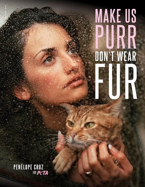 Penélope Cruz and PETA Urge Shoppers to Ditch Fur in New Christmas Ad Campaign