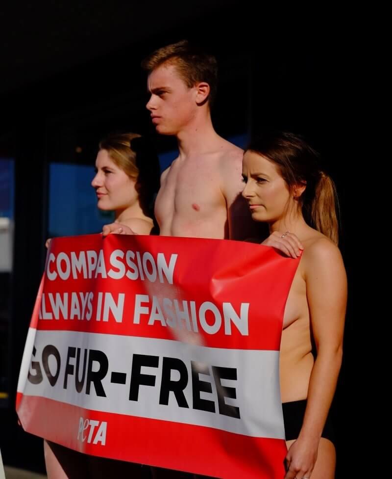 PETA Protest Annah Stretton
