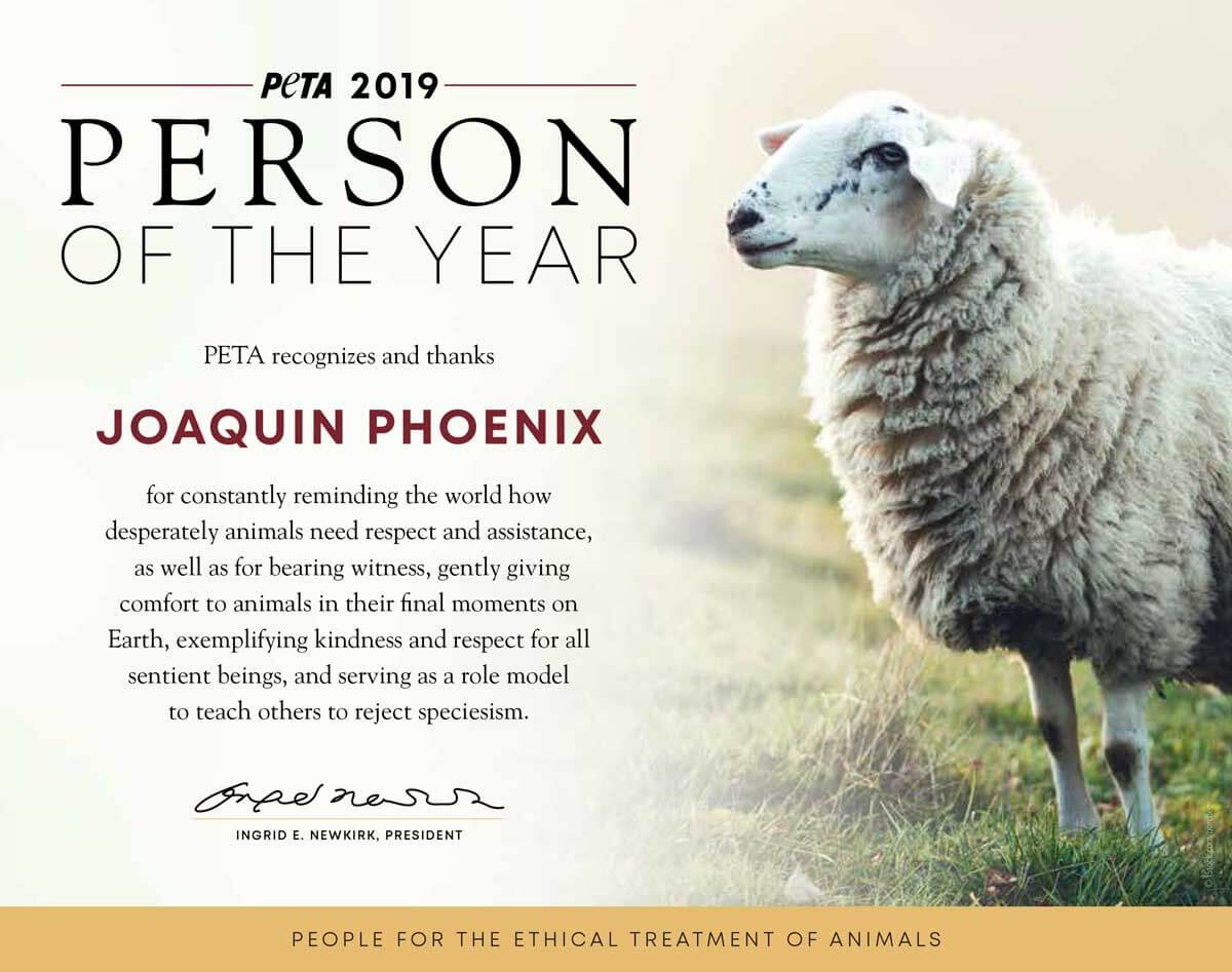 Person of the Year Certificate 2019