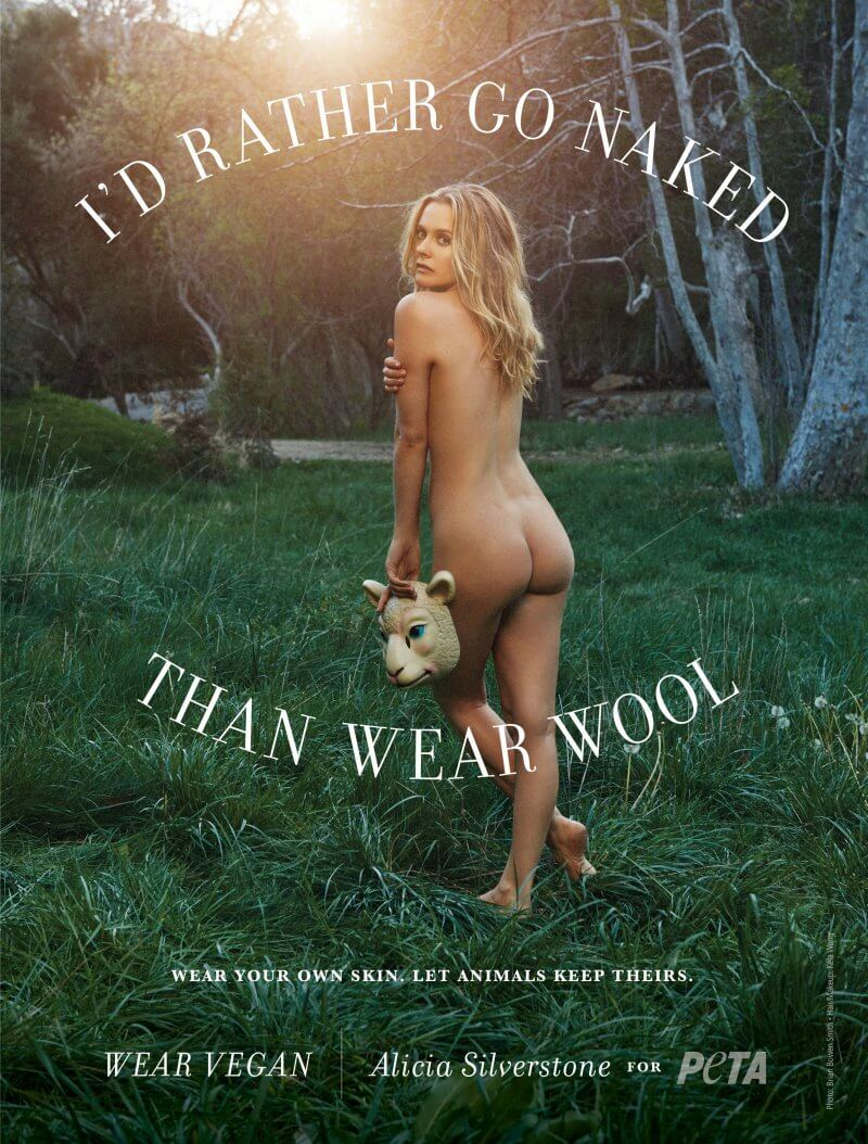Alicia Silverstone, I'd Rather Go Naked Than Wear Wool