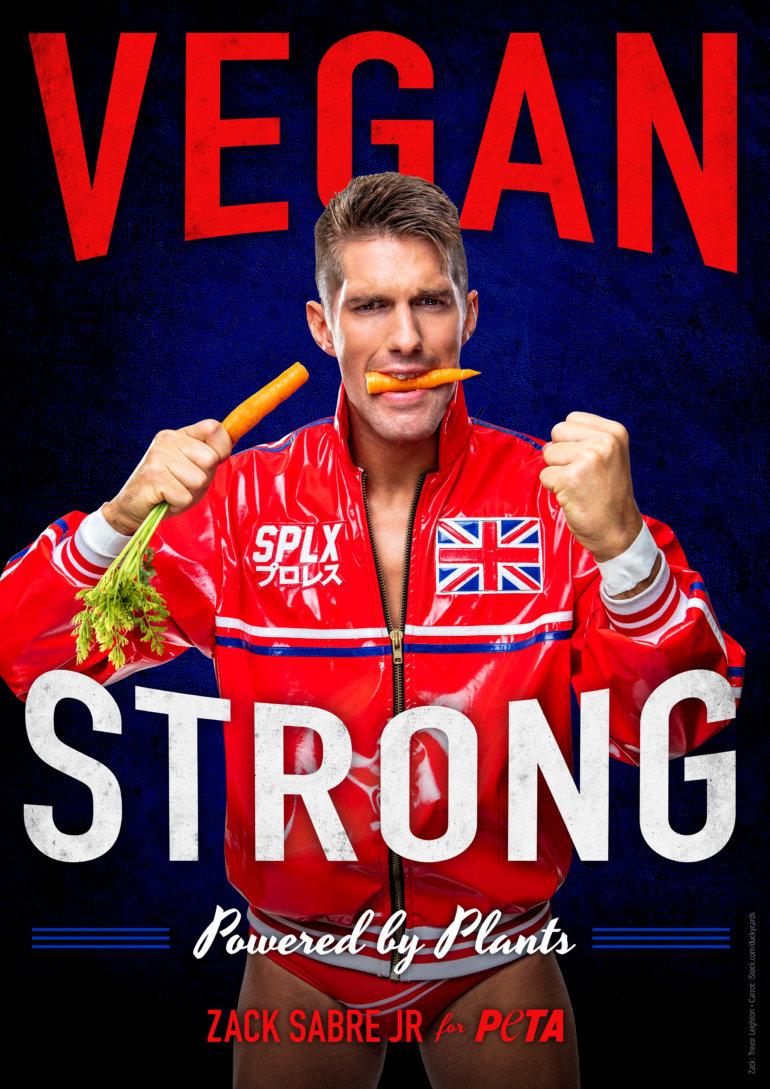 Zack Sabre is Vegan!