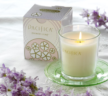 Pacifica French Lilac Soy Candle Vegan