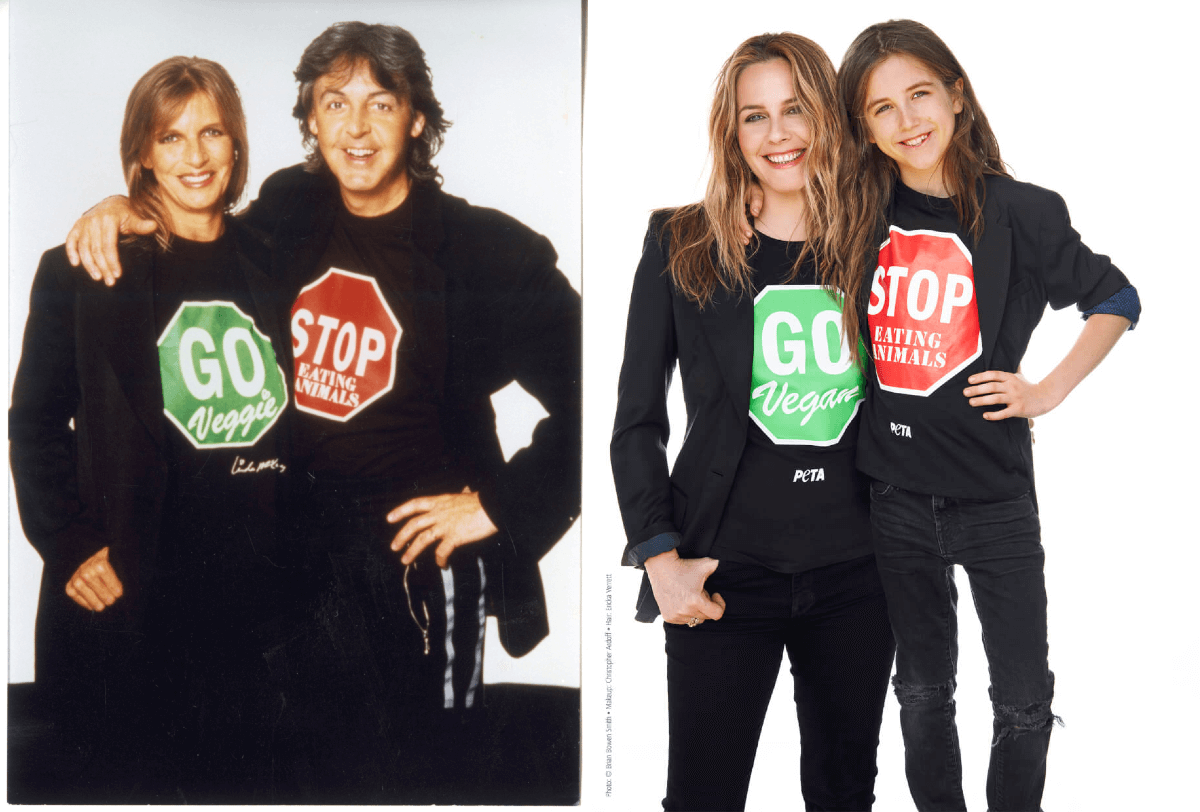 Alicia Silverstone and Son Recreate Iconic Paul and Linda McCartney Veg Campaign