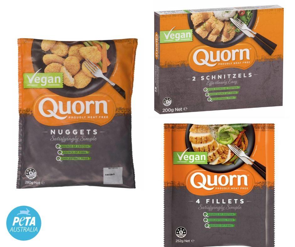 Quorn Vegan Chicken Options.
