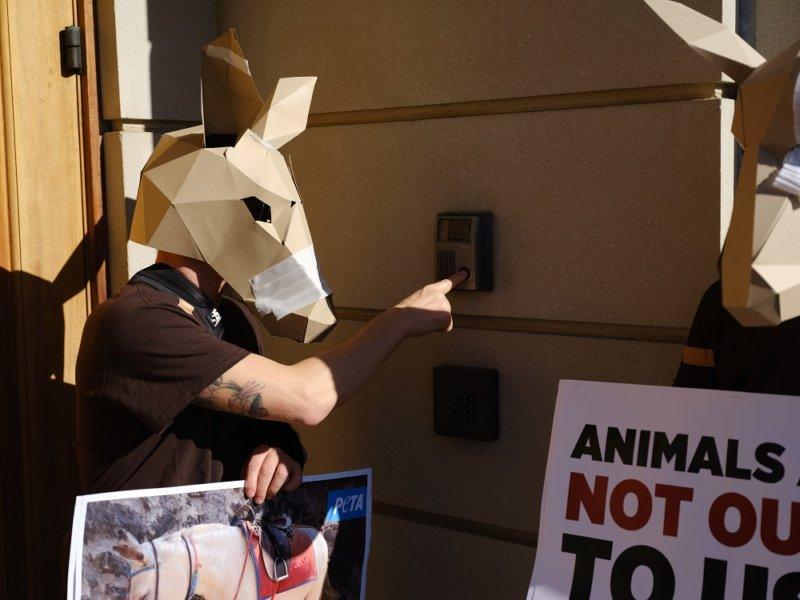 Demonstrators descend on Greek embassy in Wahsington