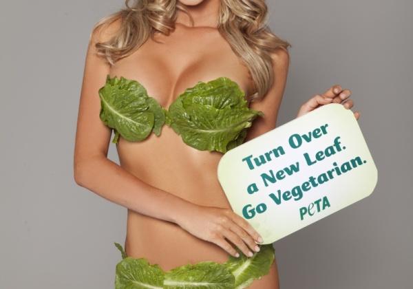 Playboy Model + Lettuce Bikini = Hot PETA Australia Ad