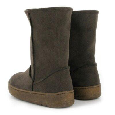 Vegetarian Shoes Snug Boot Brown