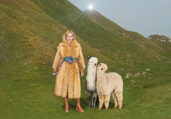 Stella McCartney's coat made with KOBA, the world's first bio-based faux fur.