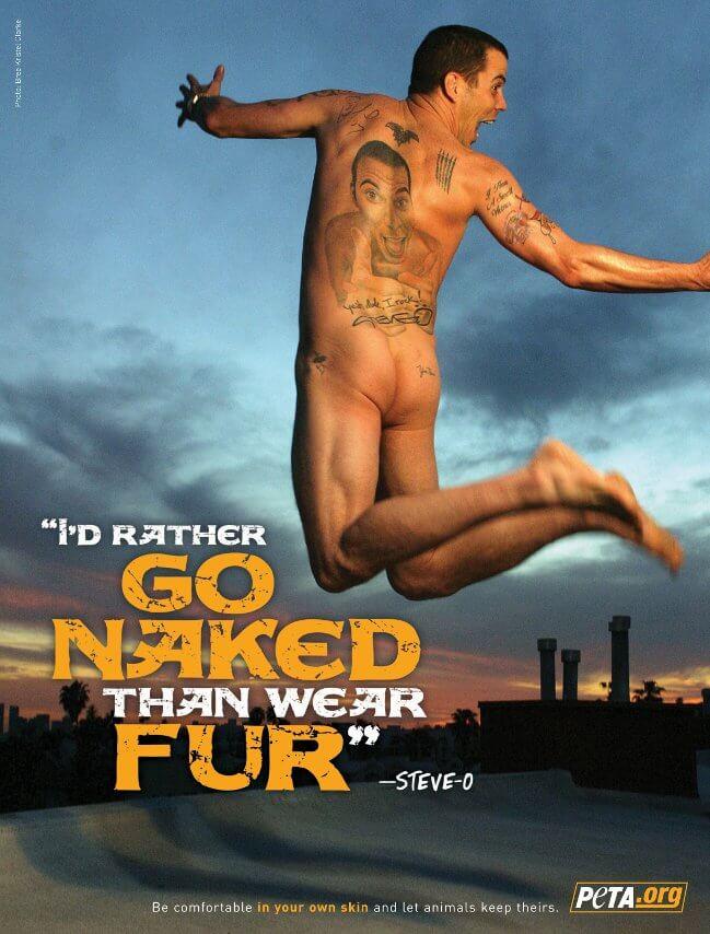 Steve O's PETA ad.