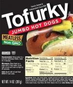 Tofurky Jumbo Hot Dogs