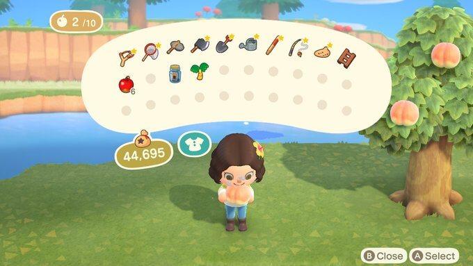 Vegan food in Animal Crossing.
