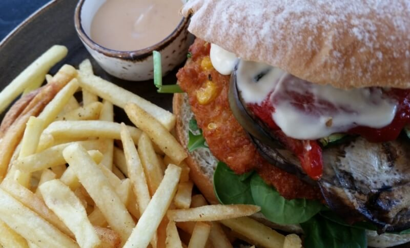 Vegan Veg Head burger Patissez Canberra
