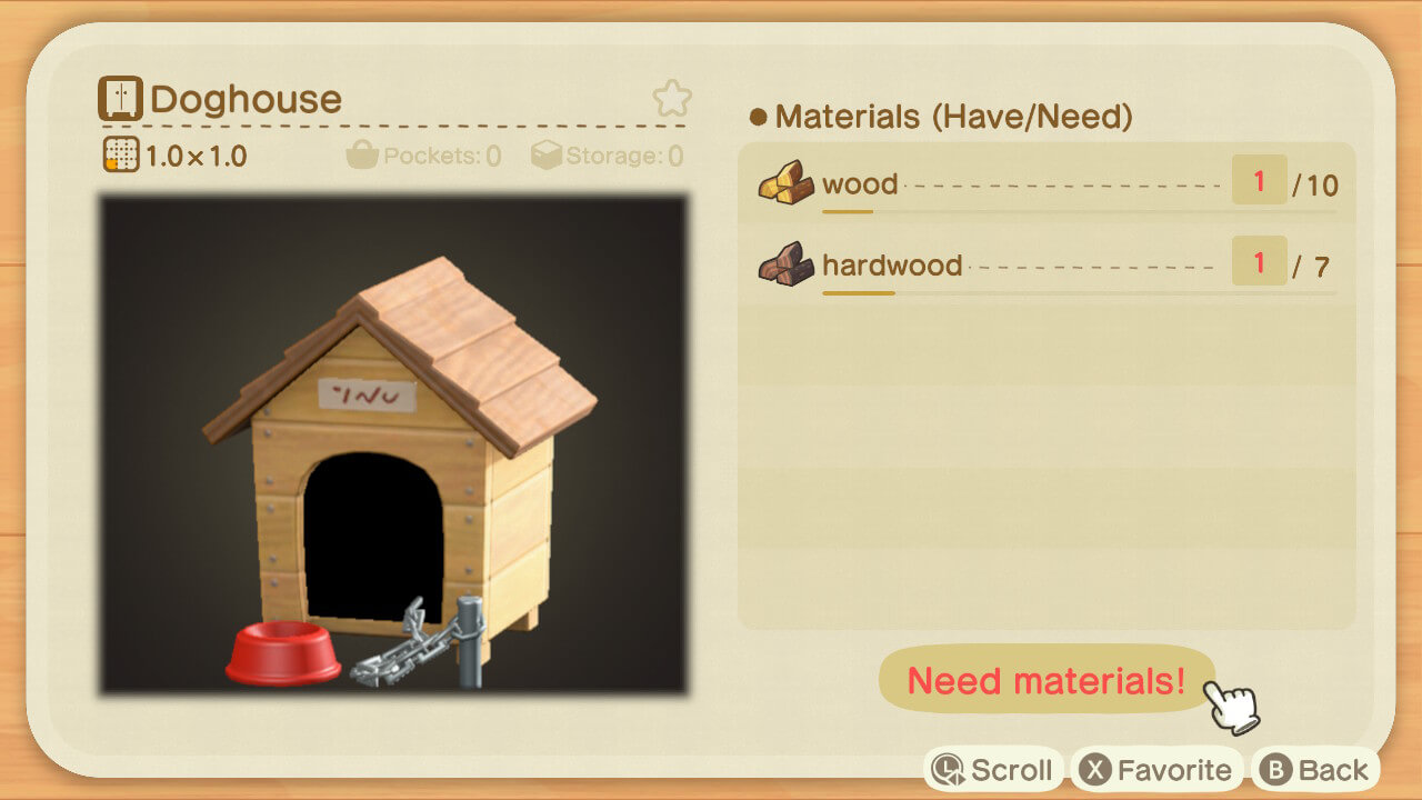 Doghouses with chains in Animal Crossing.