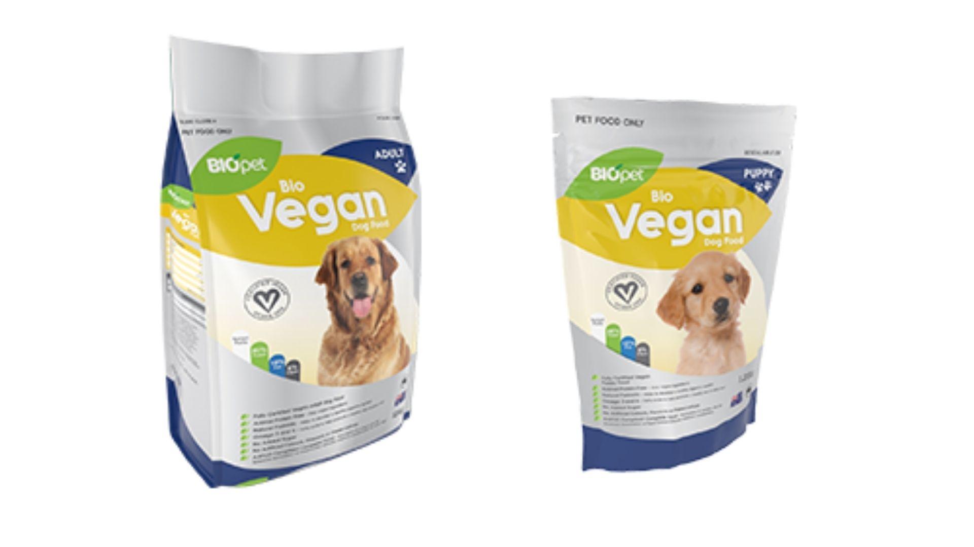 Biopet vegan dog food.