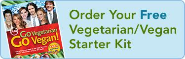 Receive a free copy of PETA's vegetarian/vegan starter kit