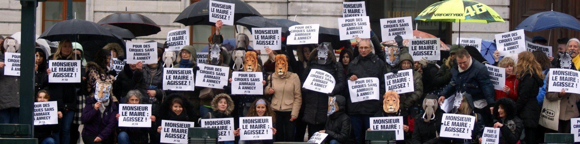 Image shows circus demonstration