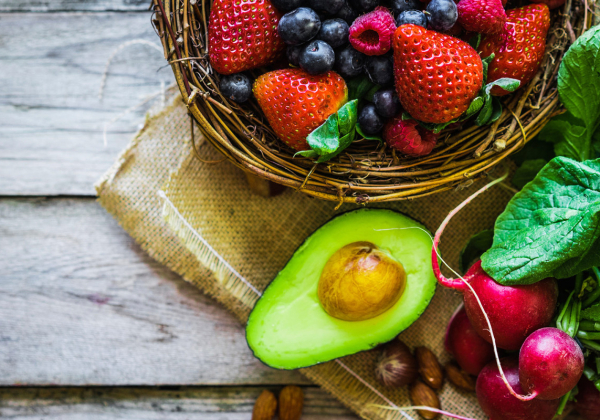 Fruit, Berries, Radishes, Avocado