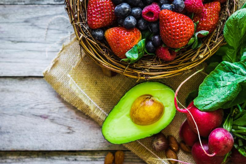Fruit, Berries, Radishes, Avocado