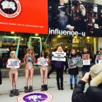 Canada Goose Protest in Montreal