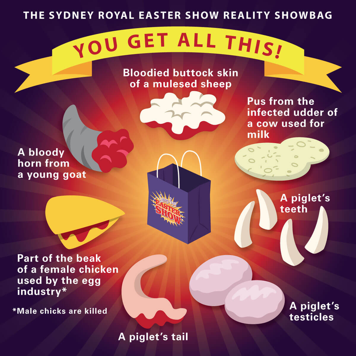 If sydney easter showbags told the gruesome truth negle Images