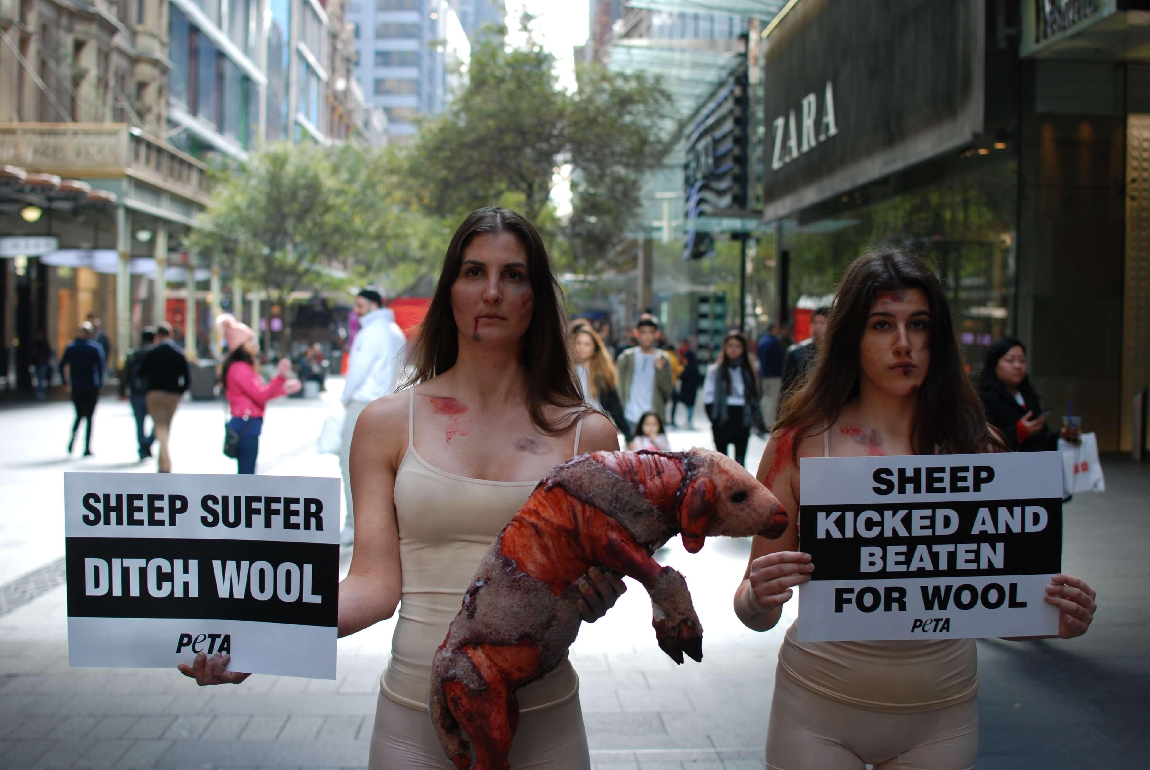 Wool Demo Pitt Street Mall