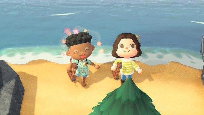 Find a secret beach in Animal Crossing.