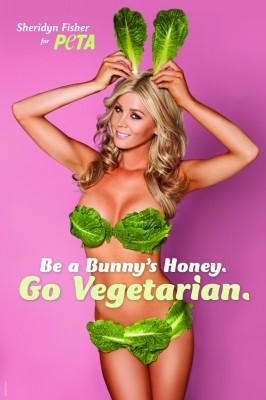 Sheridyn Fisher PETA ad