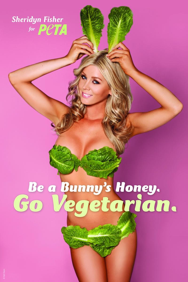 Playboy Model Swaps Lingerie for Lettuce